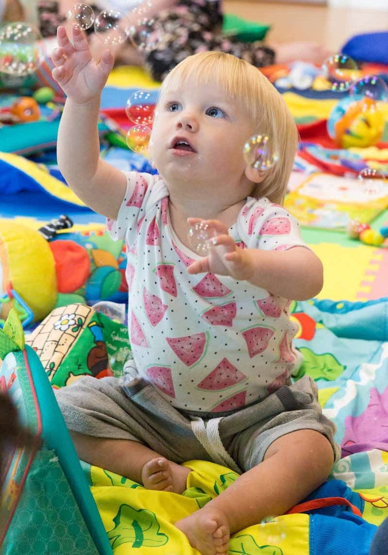 Baby Wiggle and Giggle Class Sensory Development Bubbles
